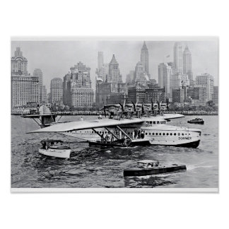 Sea Plane Visits the Big Apple Poster