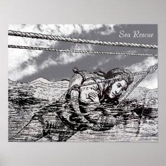 Sea Rescue design for poster