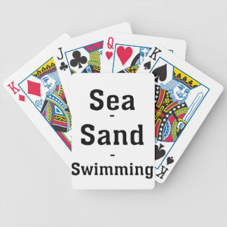 Sea - Sand - Swimming Bicycle Playing Cards