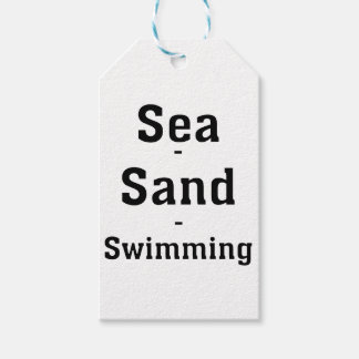 Sea - Sand - Swimming Gift Tags