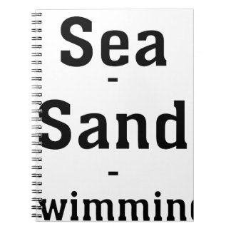 Sea - Sand - Swimming Notebook