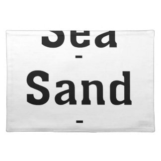 Sea - Sand - Swimming Placemat