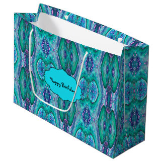 Sea Serpent Abstract Large Gift Bag