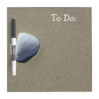 Sea Shell Beach White Board Dry Erase Whiteboards