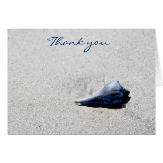 Sea Shell Blue Greeting Card