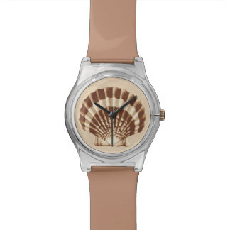 Sea Shell - brown and beige Wrist Watch