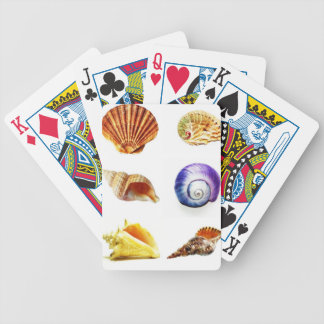 sea shell design bright and colourful bicycle playing cards