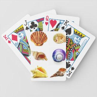 sea shell design bright and colourful poker deck