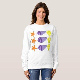 Sea Shell Seashell Conch Starfish Beach Ocean Sweatshirt
