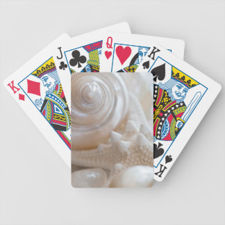 Sea Shell & Starfish Background - Beach Shells Bicycle Playing Cards