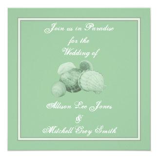 Sea Shell Wedding Invitation
