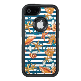 Sea Shells And Anchor Pattern OtterBox iPhone 5/5s/SE Case