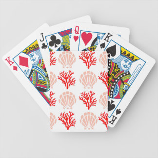Sea Shells and Coral Bicycle Playing Cards
