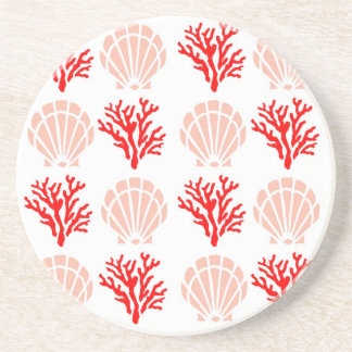 Sea Shells and Coral Coaster