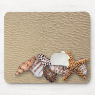 Sea Shells and Sandy Beach Mouse Pad