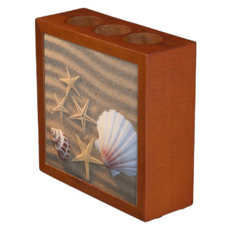 Sea Shells And Starfish Pencil Holder