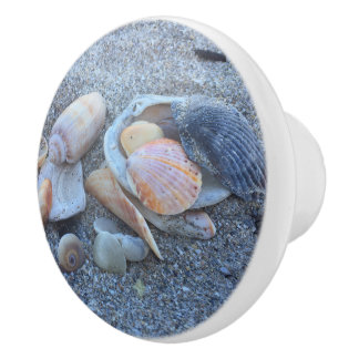 Sea Shells At The Sea Shore Ceramic Knob