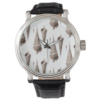Sea Shells Beachcomber Coastal Decor Design Wrist Watches