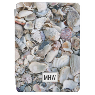 Sea Shells custom monogram device covers iPad Air Cover