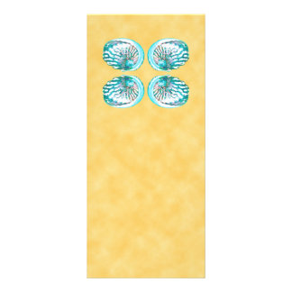 Sea Shells Design Turquoise and Yellow Rack Cards