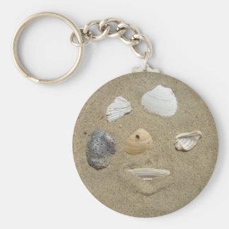 Sea Shells in the Sand Keychain