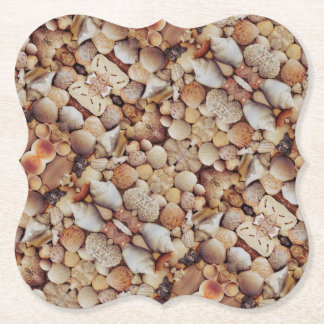 Sea Shells Kaleidoscope Paper Coaster