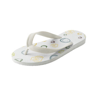 Sea Shells Kid's Flip Flops