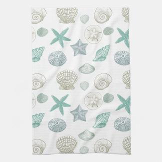 Sea shells kitchen towel