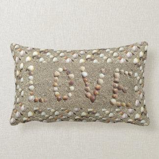 Sea Shells Love Ocean beach Sand Pillow