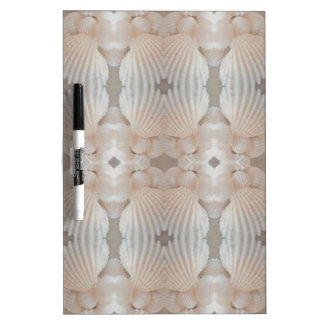 Sea Shells Love, Romantic Exotic Tropical Bridal Dry-Erase Board