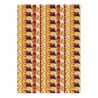 SEA SHELLS n FLOWER Decorations: ETHNIC ART Postcard