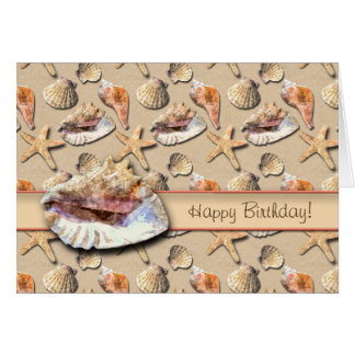 Sea Shells on Beach Sand Card