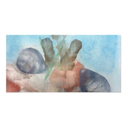 Sea Shells on the Sea Bed. Customized Photo Card