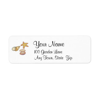 Sea Shells Return Address Label
