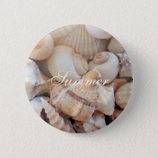 Sea Shells, Summer Beach Exotic Tropical Romantic 2 Inch Round Button