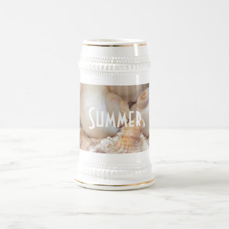 Sea Shells, Summer Beach Exotic Tropical Romantic Beer Stein