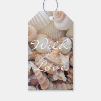 Sea Shells, Summer Beach Exotic Tropical Romantic Gift Tags