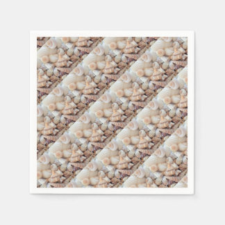 Sea Shells, Summer Beach Exotic Tropical Romantic Paper Napkins