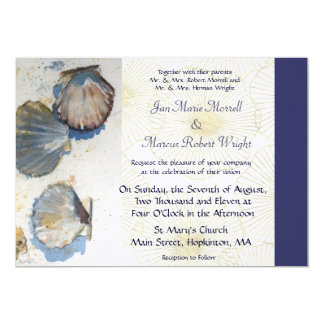 Sea Shells Wedding Invitation