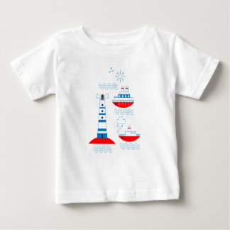 Sea, ships, lighthouses baby T-Shirt