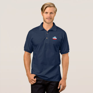 Sea, ships, lighthouses, polo shirt