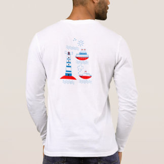 Sea, ships, lighthouses, T-Shirt