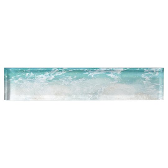 Sea shore desk name plate