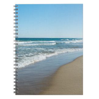 Sea shore spiral notebook