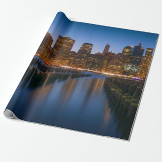 Sea side New York city in the evening Wrapping Paper