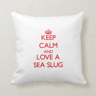 Sea Slug Throw Pillow