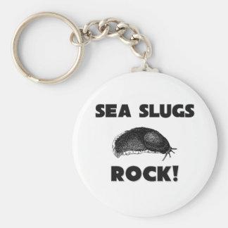 Sea Slugs Rock Keychain