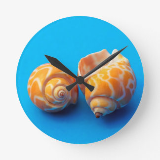 Sea Snails Round Clock