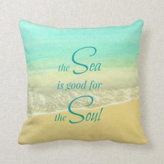 Sea Soul Beach Wave Pillow