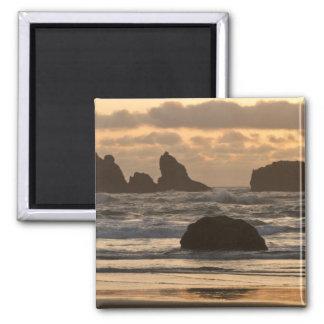Sea stacks on the beach at Bandon, Oregon Magnet